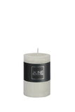 Cylinder Candle Powder Grey - Small
