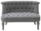 French Couch in linen fabric 2 Seats
