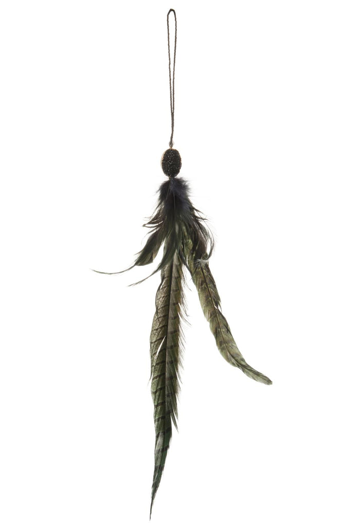 Hanging Feathers Green Mix