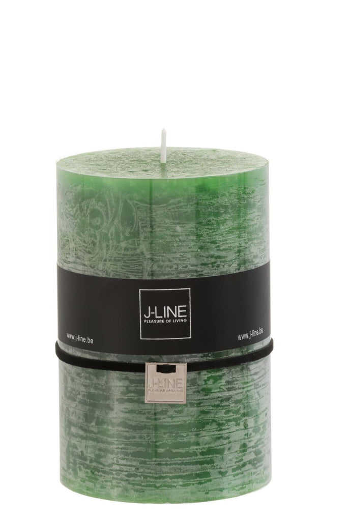 Forest Green Large Pillar Candle