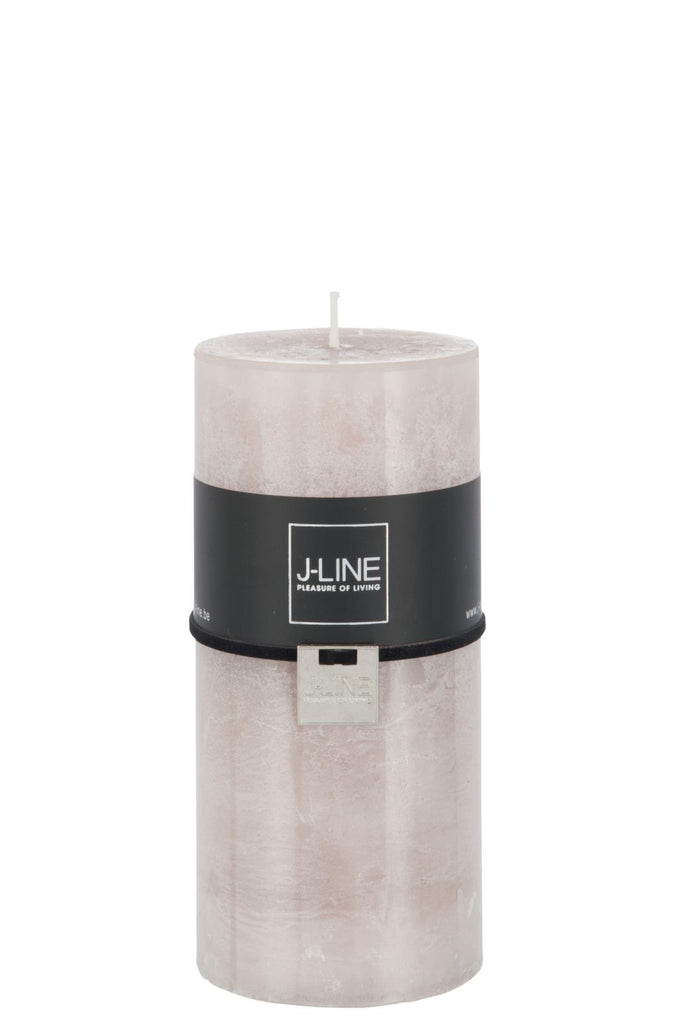 Mouse Grey Pillar Candle - Large