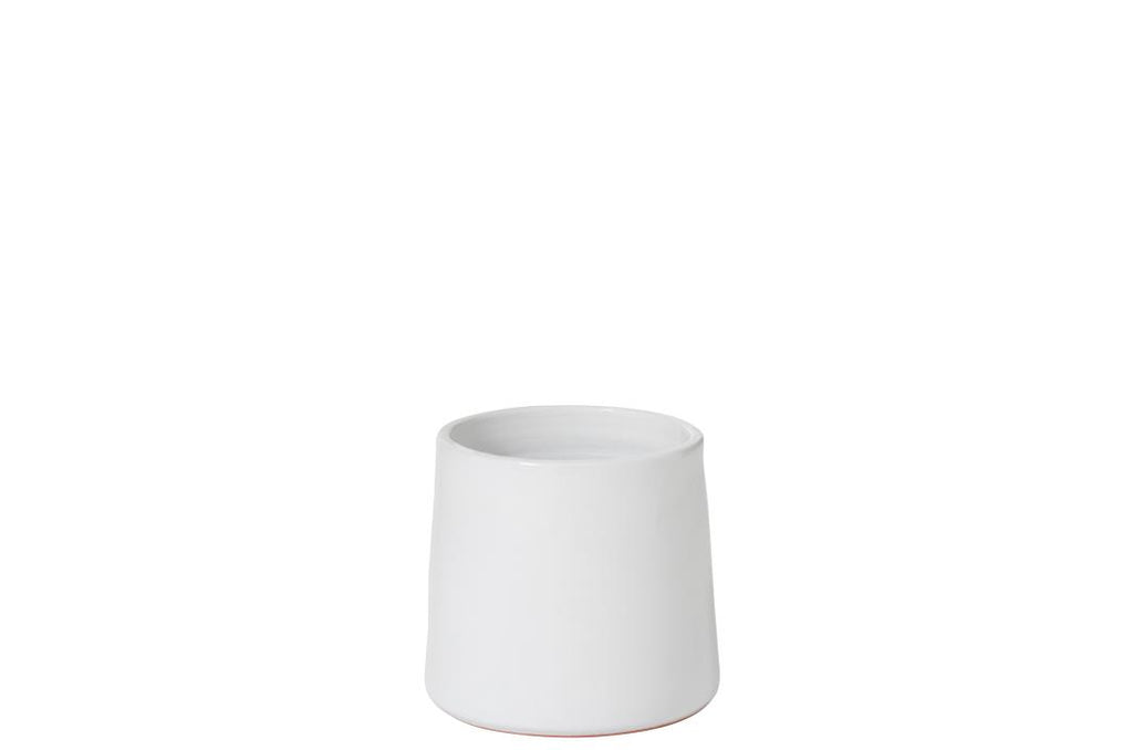 White Ceramic Flower Pot