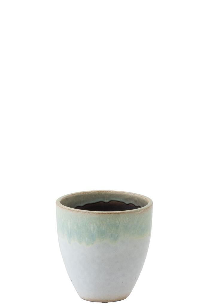 Eucalyptus Ceramic Flower Pot Mint - Medium