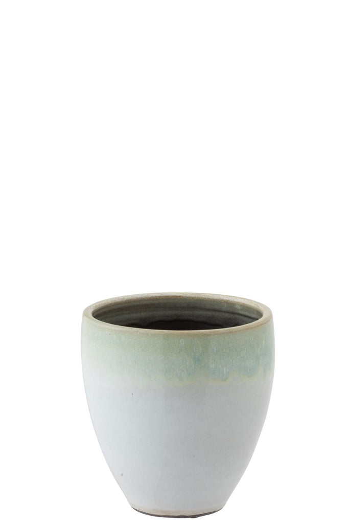 Eucalyptus Ceramic Flower Pot Mint - Large