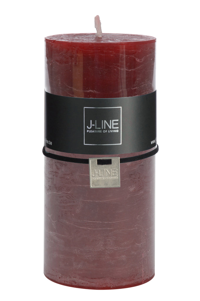 Burgundy Pillar Candle - Large