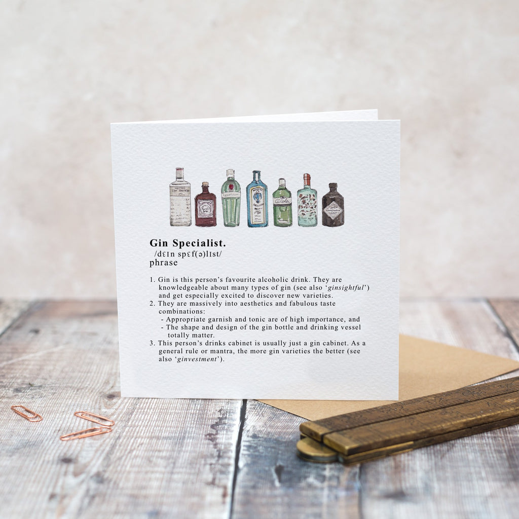 Gin Specialist Greetings Card