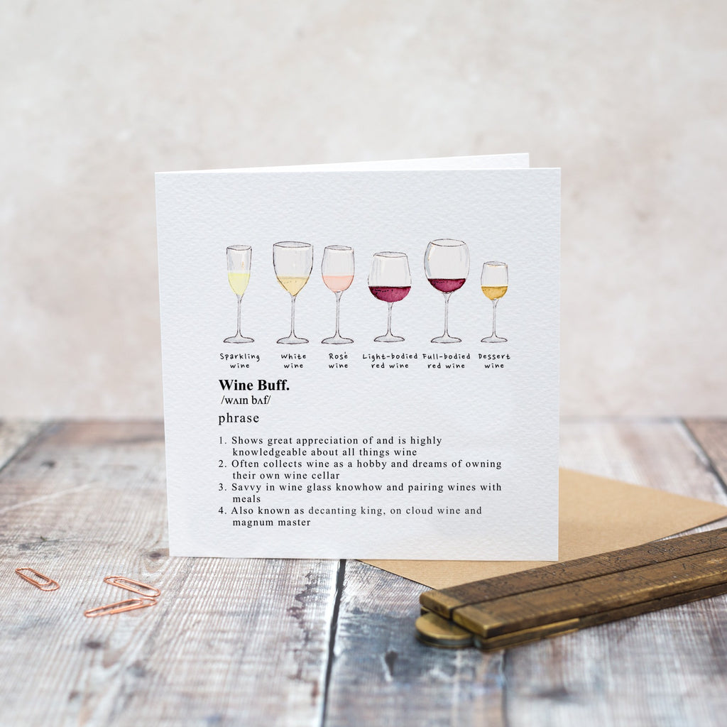 Wine Buff Greetings Card