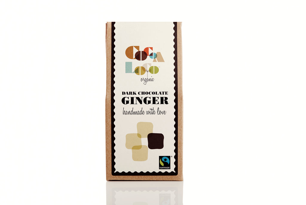 Ginger dipped in Chocolate 73% Dark 110g box