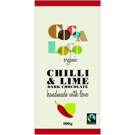 Dark Chocolate Chilli and Lime 100g bar