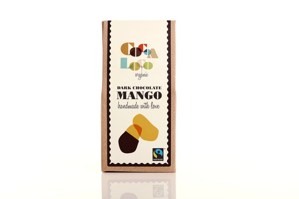 Mango dipped in Chocolate 73% Dark 110g box