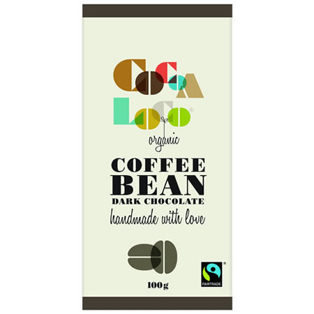 Dark Chocolate and Coffee Bean 100g bar