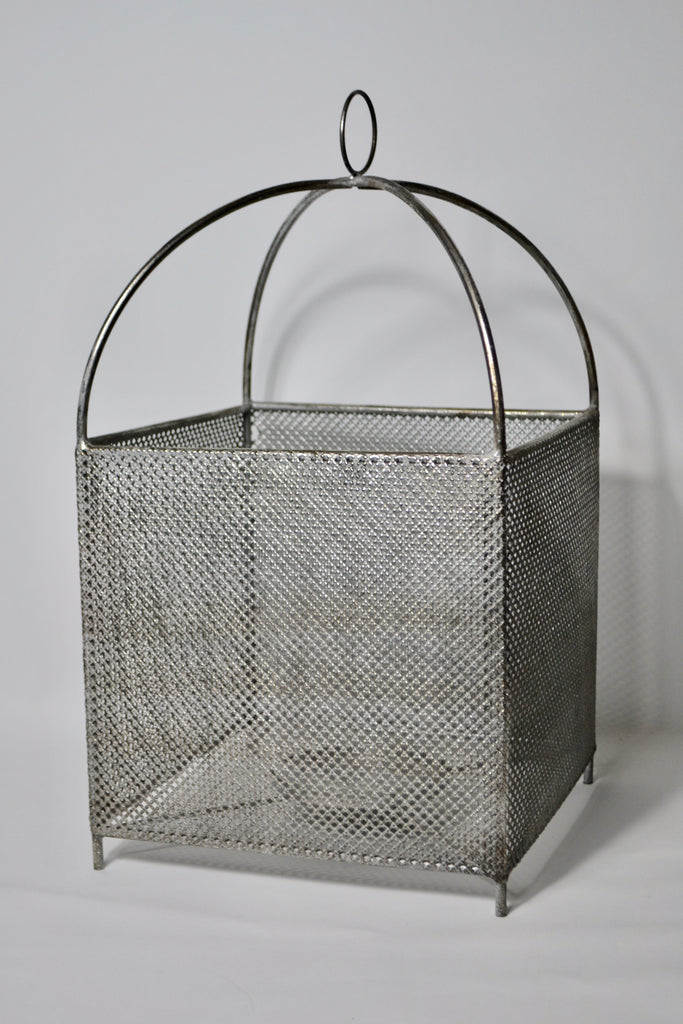 Black and Silver Mesh Effect Square Lantern