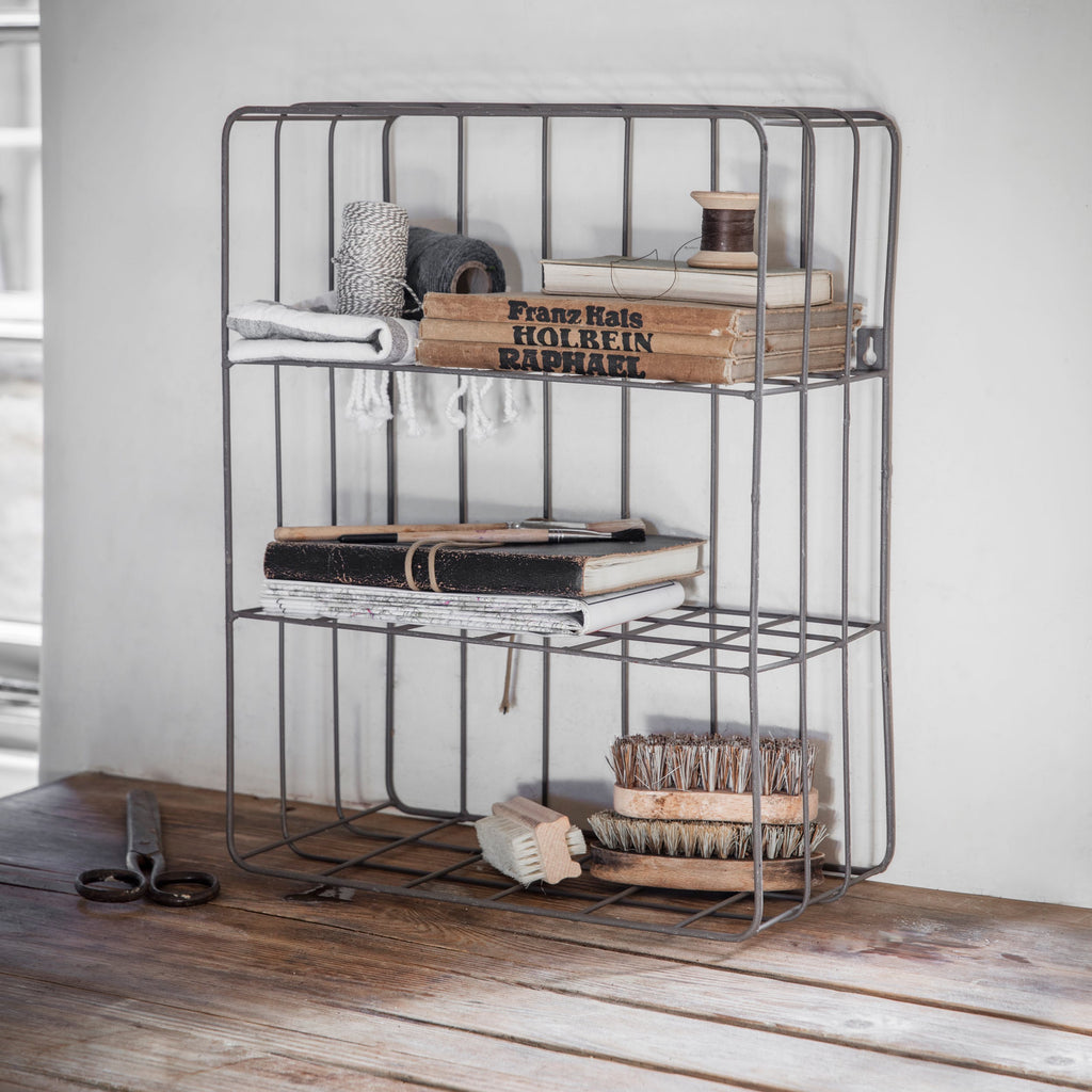 Wirework Farringdon Wall Crate in Grey