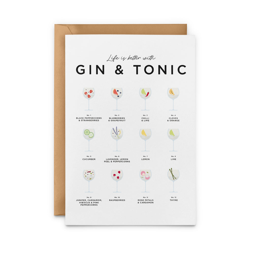 Life is Better with Gin and Tonic