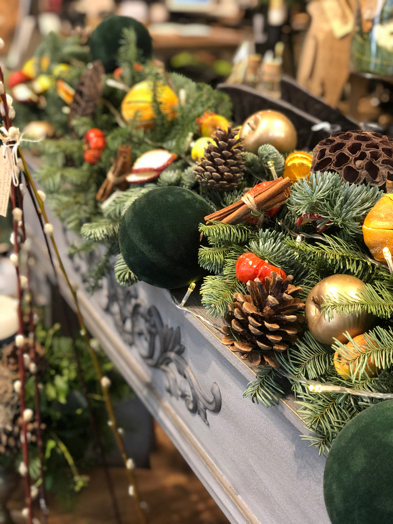 Pine Garland with Festive Dried Fruits