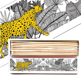 Cheetah in White Jungle Matchbox Extra Long