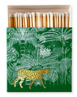 Cheetah in the Jungle Matchboxes Green - Set of 2