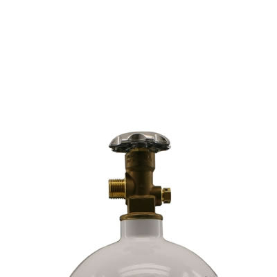 STANDARD 90 DEGREE BOTTLE VALVE (FITS 15 LB BOTTLES)