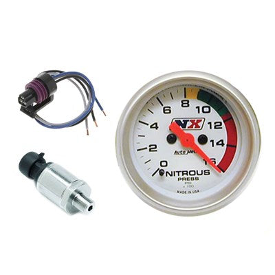 2 1/16 NITROUS ELECTRIC PRESSURE GAUGE WITH SENSOR