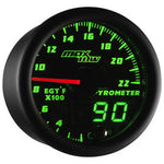 Black & Green MaxTow 2200° F Exhaust Gas Temperature Gauge