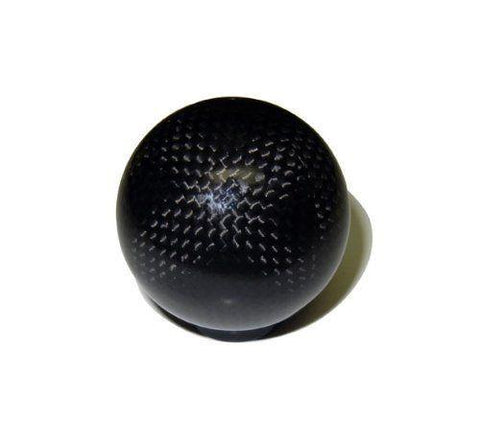 "ROUND REAL CARBON FIBER SHIFT KNOB 2"" DIAMETER"