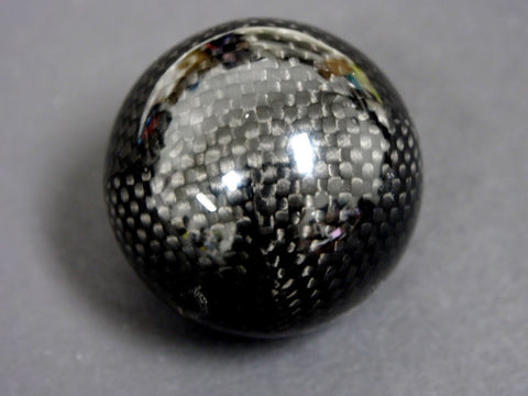 "REAL CARBON FIBER SHIFT KNOB FOR MOST AUTOMATIC TRANSMISSIONS 2"" DIAMETER 8X1.25MM"