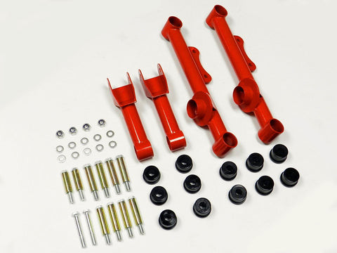 REAR UPPER AND LOWER TUBULAR CONTROL ARMS 79-04 FORD MUSTANG & REPLACEMENT BUSHING KIT// PART NUMBER 100.9862