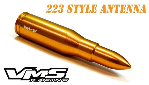 "1 PIECE .223 7.62 CALIBER CAL BULLET STYLE ALUMINUM SHORT ANTENNA KIT 3"" INCHES LONG AK47"