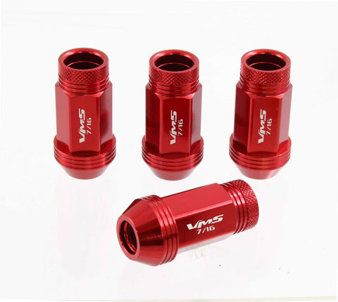 12x1.25 MM 44MM LONG FORGED ALUMINUM OPEN END LIGHT WEIGHT RACING LUG NUTS