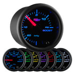Black 7 Color 15 PSI Boost/Vacuum Gauge