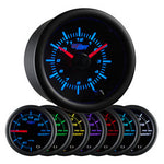 Black 7 Color Clock Gauge