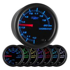 Black 7 Color Needle Wideband Air/Fuel Ratio Gauge