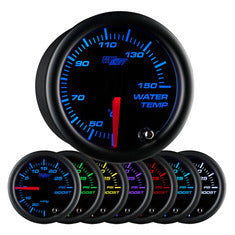 Black 7 Color Celsius Water Temperature Gauge