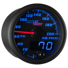 Black & Blue MaxTow Air Pressure Gauge
