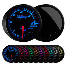 Elite 10 Color 30 PSI Fuel Pressure Gauge