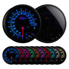 "Elite 10 Color 3-3/4"" In-Dash Speedometer Gauge"