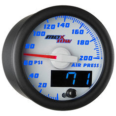 White & Blue MaxTow Air Pressure Gauge