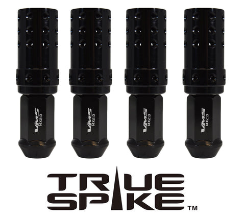 9/16-18 101MM LONG MUZZLE BRAKE FORGED STEEL LUG NUTS WITH ANODIZED ALUMINUM CAP 65-87 CHEVROLET (8 LUG) C20 C30 K20 K30 GMC 02-11 DODGE RAM 80-98 FORD F250 F350 // CAP: 25MM DIAMETER 51MM HEIGHT PART # LGC051