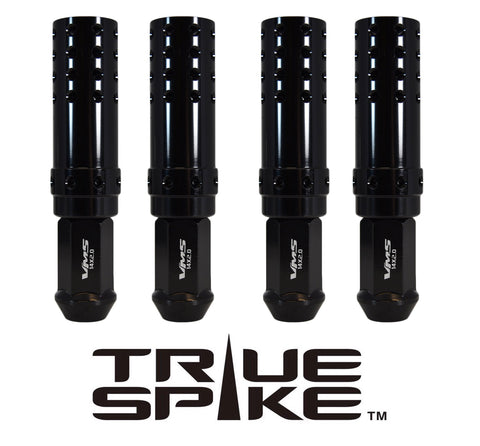 9/16-18 124MM LONG MUZZLE BRAKE FORGED STEEL LUG NUTS WITH ANODIZED ALUMINUM CAP 65-87 CHEVROLET (8 LUG) C20 C30 K20 K30 GMC 02-11 DODGE RAM 80-98 FORD F250 F350 // CAP: 25MM DIAMETER 73MM HEIGHT PART # LGC052