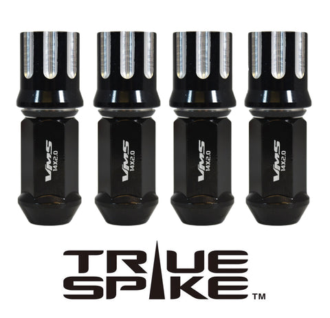 14X2.0 MM 80MM LONG TUNER MACHINED CUTS FORGED STEEL LUG NUTS WITH ANODIZED ALUMINUM CAP 04-14 FORD F150 RAPTOR TREMOR EXPEDITION // CAP: 25MM DIAMETER 30MM HEIGHT PART # LGC055