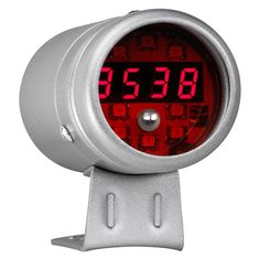 Silver & Red LED Digital Tachometer with Shift Light