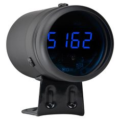 Black & Blue LED Digital Tachometer with Shift Light