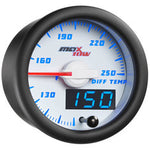 White & Blue MaxTow Differential Temperature Gauge