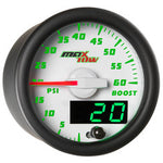 White & Green MaxTow 60 PSI Boost Gauge