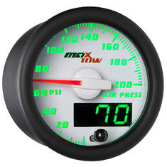 White & Green MaxTow Air Pressure Gauge