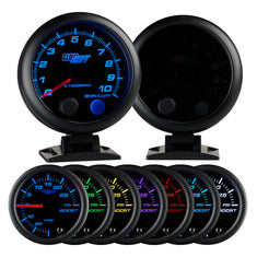 "Tinted 7 Color 3-3/4"" Tachometer w/ Shift Light"