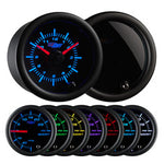 Tinted 7 Color Clock Gauge