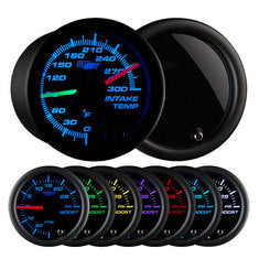 Tinted 7 Color Dual Intake Temperature Gauge
