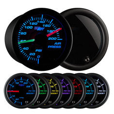 Tinted 7 Color Dual Needle Air Pressure Gauge