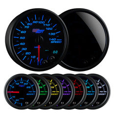 "Tinted 7 Color 3-3/4"" In-Dash Speedometer Gauge"
